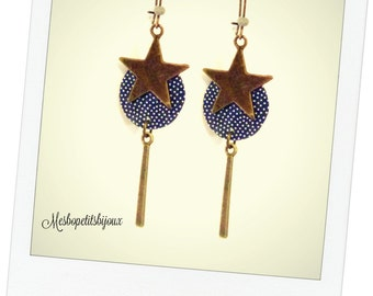 Bohemian style earrings, pea pattern