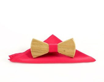 Wooden bow tie - THE PINK PANTHER