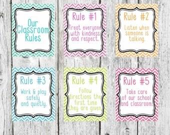 Customize your classroom rules, Classroom Decor, Teacher Classroom Rules