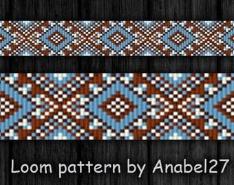 Bead loom pattern Square stitch pattern #101 Beading patterns Jewelry making Loom beading Beadwork patterns  Beaded bracelet patterns