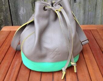shoulder bag/ crossbody bag/ upcycled leather