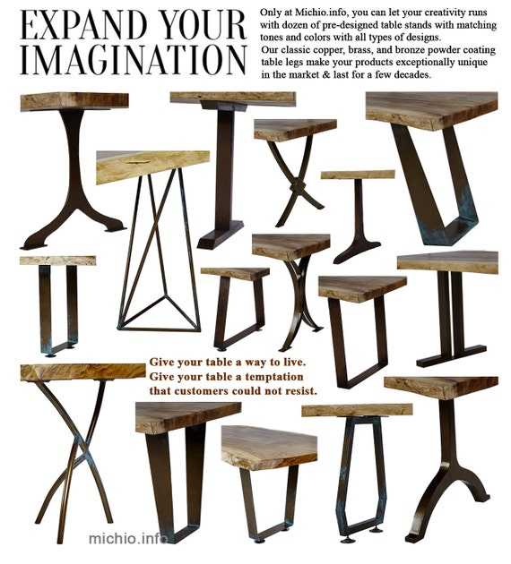 table legs metal iron table legs wrought iron table by michiodecor. Black Bedroom Furniture Sets. Home Design Ideas