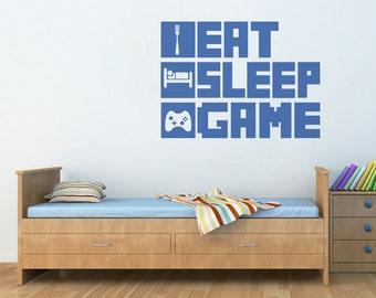 Eat, Sleep, Game Wall Decal