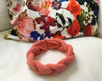 Cotton Headband // Coral