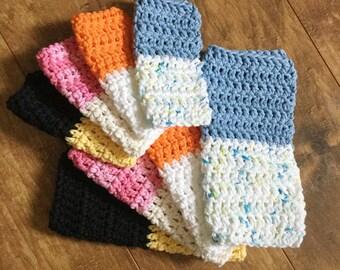 50/50 Dishrag Set, 100% Cotton, Crochet, Handmade, Reusable