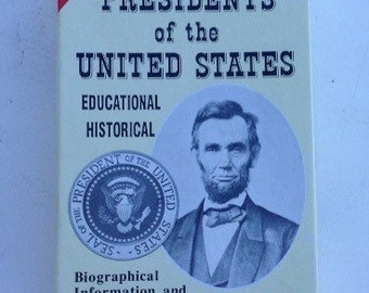 Vintage 1986 presidents of the United States flash cards