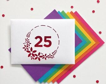 Anniversary card, Milestone Birthday Wishes, 25th Anniversary Card, 50th Anniversary Card, Milestone Anniversary Card, Wedding Anniversary