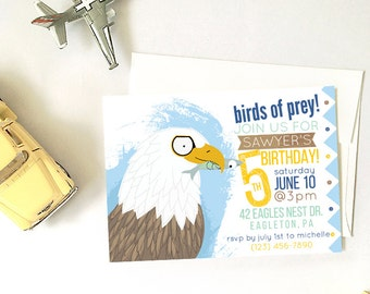 Bald Eagle Birthday Party, Printable DIY Party Invitation