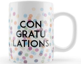 Congratulations Mug, engagement, baby, graduation unique celebratory gift, passed drivers test, Wedding congratulations present, UK gift