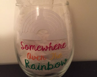 Somewhere Over The Rainbow Glass
