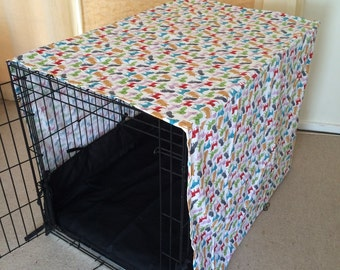 XL (108cm length) dog crate cover. Can be made in other sizes.