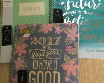 Large 17 Month/Weekly 2016-2017 Planner Agenda Spiral Bound Desk
