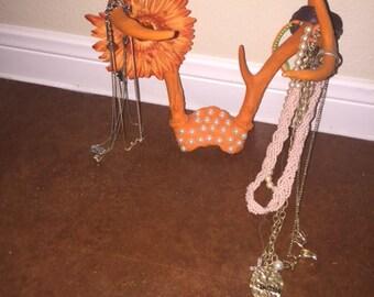 Rustic Orange Antlers