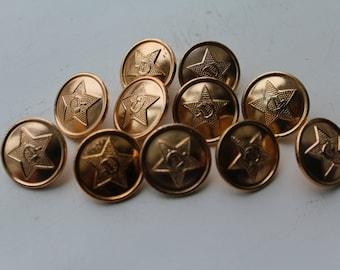 Set of 11 vintage soviet military buttons, Vintage Soviet Army buttons, Soviet buttons, USSR military buttons,Vintage military buttons
