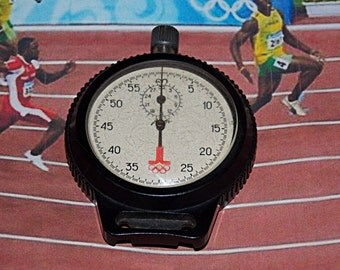 RARE!!! Olympic stopwatch. Soviet stopwatch. AGAT. Chronometer. Soviet Mechanical pocket watch. Olympics 80.
