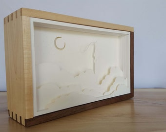 Wooden Box Night Lamp