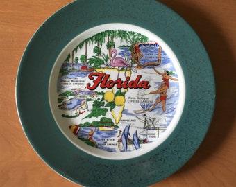 """Homer Laughlin """"Florida"""" Souvenir Plate"""