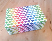 Rainbow Mermaid Scales Wrapping Paper Sheets, gift wrap, scalloped fish scales, 29x20 inches each, shipped rolled in tube