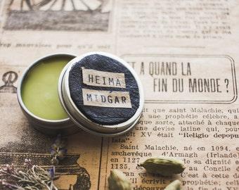 Solid perfume - Midgar - cardamom, fir balsam, vanilla, vetivier. Solid perfume steampunk cardamom, fir, vanilla