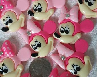 Micky,Minie Mouse Flat Back Cabochon Set of 20
