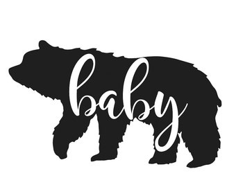 Baby bear Iron on Decal .Applique  Decal.Heat transfer vinyl.