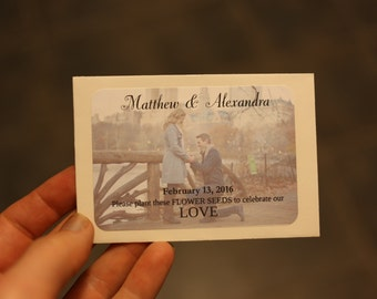 Personalized Seed packet wedding favors with YOUR photo!