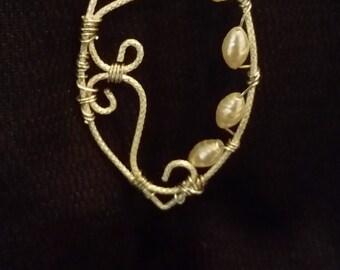 White Fresh Water Pearls Pendant