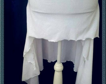 White sequin skirt