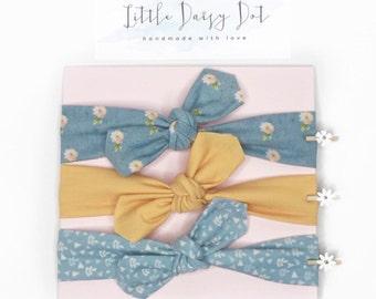 Baby Headband/ Baby Headband Set/ Baby Girl Gift/ Baptism Headband / Flower Girl Headband / Baby Bows / Infant Headband/ Newborn Headband