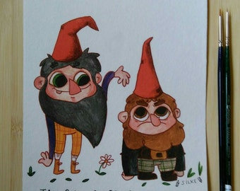 Tall gnomes are gnomes too - print
