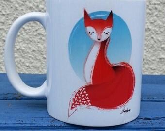 Illustrated Fox mug