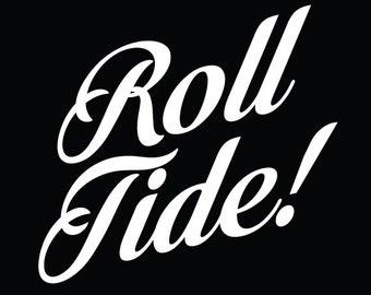 Roll Tide Vinyl Decal // Bama Sticker // Alabama Window Sticker