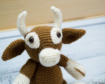 Crochet toy cow