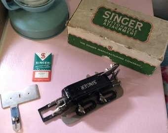 Singer Sewing Buttonholer 86662 - Buttonhole Attachment for Singer Sewing Machine - Vintage Sewing Machine Feet - 1950s Sewing