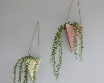 Triangular Wall Hanging Planter