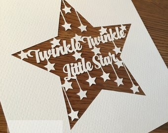 SALE - Twinkle Twinkle Little Star Commercial use paper cutting template