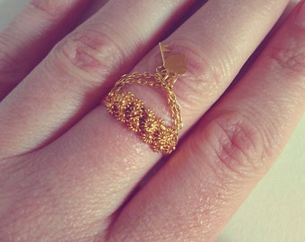 Portuguese filigree golden ring