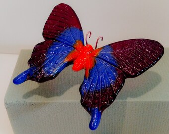 Butterfly, glass cast.