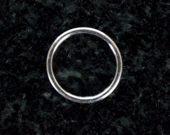 12mm Sterling Silver 18ga CLOSED Jump Rings, Made in India