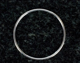 28mm Sterling Silver 18ga CLOSED Jump Rings, Made in India