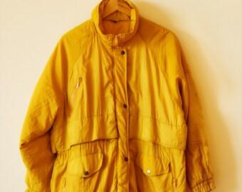 90s yellow winter parka
