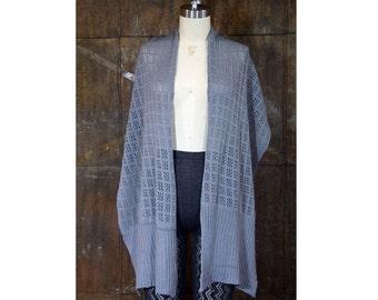Ilana Scarf- Machine Knit Lace Oversized Scarf