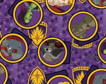 """Marvel Fabric - Guardians Of The Galaxy Fabric Gang 100% cotton fabric 43"""" wide, D46"""