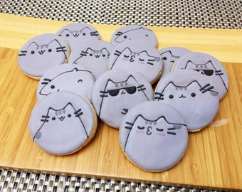 Pusheen The Cat Sugar Cookies