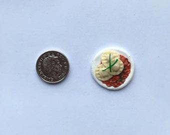 Ravioli Pasta Ring- Miniature food jewellry/ring