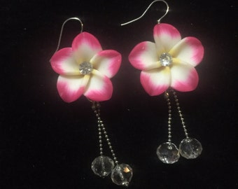 Hibiscus earrings
