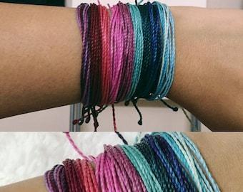 Basic Multistrand Friendship Bracelet, Waterproof Bracelet, Bohemian Bracelet, Pura Vida Bracelet