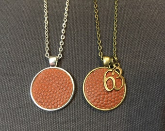 Genuine football leather necklace