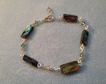 Abalone and Crystal bracelet