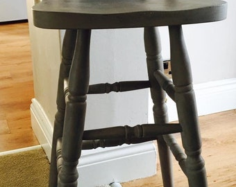 French grey up cycled bar stool/chair